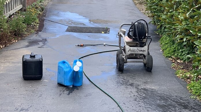 Allcon Cleaning Concrete Stains