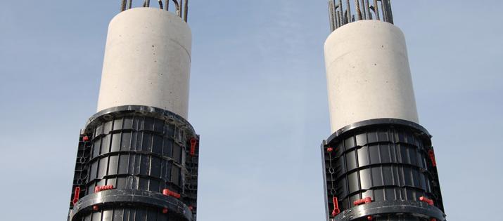 Geoplast plastic modular formwork round columns